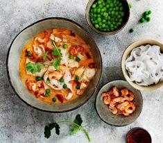 Thai Recipes, Fish Recipes, Asian Recipes, Soup Recipes, Pasta Noodles, Healthy Cooking, Curry, Keto, Vegetarian