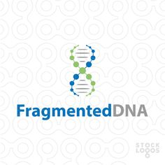 A simple and creative DNA logo made from dots. Key ideas: swooshes, brand identity, brand, identity, swoosh, swoosh design, circle, points, dotted swoosh, DNA design, DNA swoosh, medicine, health, connected, connected dots, connections, receptors