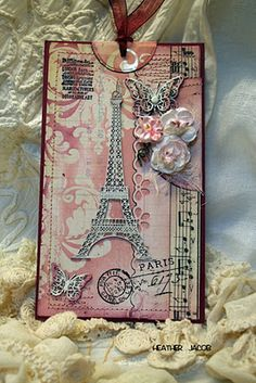 Paris theme using resist and ink