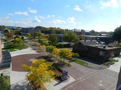 Birds eye view from the top of Welte Garage. CCSU has beautiful #foliage in the fall on #campus