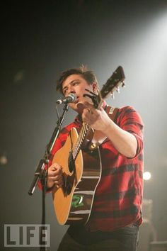Marcus Mumford, of Mumford & Sons (I could listen to his voice all the live-long day).  Talented musicians rock my world, and these guys are awesome.