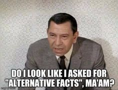 "Do I look like I asked for ""alternative facts"", ma'am?"