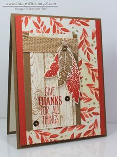 Four Feathers Give Thanks – Stampin' Up! (via Bloglovin.com )