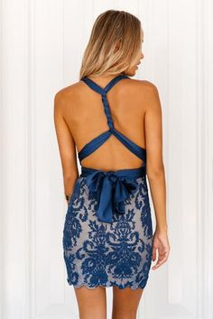 Something New Dress (Navy)▶ ▷ ▶ Shop It Now ❤ Xenia Boutique xx