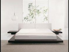 Bett Dunkelbraun - Doppelbett 180x200 cm - Ehebett - Futonbett - Japan Design - ZEN