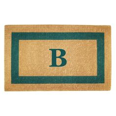 Have to have it. Creative Accents Heavy Duty Coir Mat Single Picture Frame with Optional Monogram - $66.99 @hayneedle. In black.