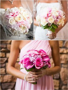 Pink wedding bouquets #pink #wedding #bouquets