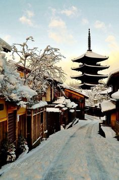 Snow in kyoto by ekaterina georgieva (japan) east asia in 2019 япония, япон Japanese Landscape, Japanese Architecture, Nagoya, Osaka, Cool Places To Visit, Places To Go, Places Around The World, Around The Worlds, Monte Fuji