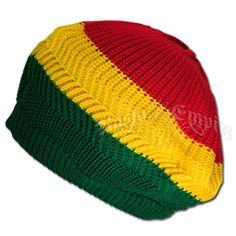 Bob Marley and Rasta Headwear: Hats, Brims, Beanies, Tams, Ball Caps Crochet Slouch Beanie, Knitted Hats, Crochet Hats, Blanket Crochet, Crochet Ideas, Bob Marley Clothing, Rasta Clothing, Crochet Bob, Black Crochet Dress