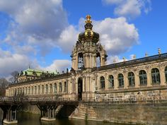 The Zwinger. It was originally intended to be an outdoor ballroom for Augustus the Strong and his court.