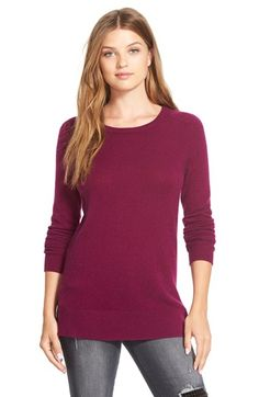 Halogen®+Crewneck+Lightweight+Cashmere+Sweater+(Regular+&+Petite)+available+at+#Nordstrom