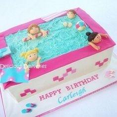 Pool Party Cakes for Girls | Pool party cakes