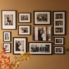 wall collage. photo wall. collage. interior design, interior decorating. art.