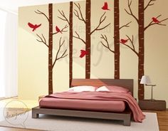 Tree Wall Decal Wall Sticker Tree decal Art by DesignedDesigner