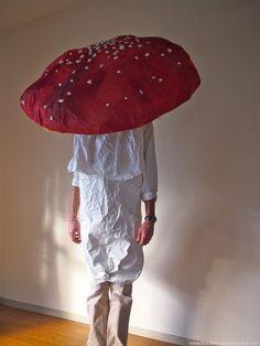 Mushroom costume.  Gloucestershire Resource Centre http://www.grcltd.org/scrapstore/