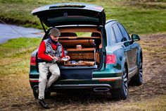 This isn't coarse fishing. This is #luxury, don't you know?  Check out the incredible #Bentley #Bentayga Fly #Fishing by #Mulliner #4x4 #SUV.