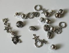 Silver Tone Acrylic Mixed Beads And Charms by DIYArtMart on Etsy, $2.20