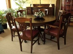 Oak Chippendale Style Dining Room Set By LightsAndMore On Etsy, $3750.00