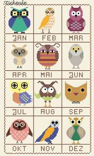 calendrier chouettes