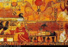 Sarcophagus of Khonsu, Son of Sennedjem. Egyptian Museum. Egypt. Photographer: J.D. Dallet