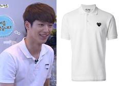 "Seo Kang-Joon on ""Roommate"" Episode 9.  Comme Des Garcons Play Classic Polo Shirt #Roommate #룸메이트 #SeoKangJoon #서강준"