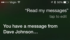 Siri can read your text messages!