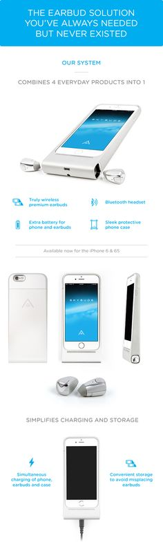 Skybuds - truly wireless earbuds and smartphone case by Alpha Audiotronics, Inc. — Kickstarter