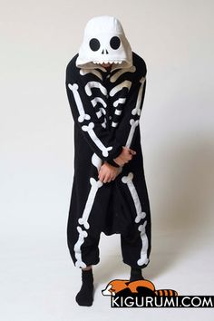Skeleton Kigurumi Onesie   Kigurumi.com