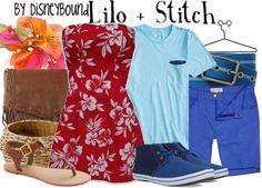 Disney Bound: Lilo + Stitch from Disney's Lilo and Stitch (Couple Outfit) Disney Mode, Disneybound Outfits, Disney Inspired Fashion, Disney Fashion, Anna E Elsa, Disney Dress Up, Disney Clothes, Disney Themed Outfits, Disney Couple Outfits
