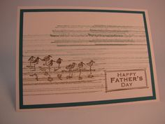 Stampin' Up Father's Day Card Sandpipers by InkStainedPaper