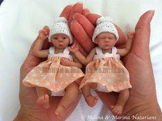 Handmade polymer clay OOAK baby girls by MeliMari, via Flickr
