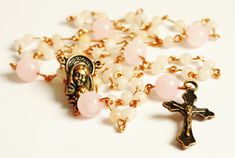 Catholic Rosary handmade rosary necklace by KaterinaCollection, $32.00
