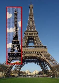 Made by Marian. Bookmark Eiffeltoren embroidered on plastic canvas. A 'Vervaco' cross stitch Bookmark kit.
