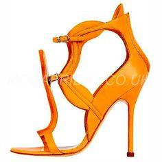 modabridal.co.uk SUPPLIES Designed Ultra-High Heel Rubber Buckle Hollow Summer Plain Stiletto Heel Open Toe Sandals Sandals