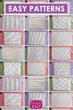 Collect simple Knit Stitch Patterns with different combinations of simple knits and purl stitches. Collect simple Knit Stitch Patterns with different combinations of simple knits and purl stitches.Perfect for Beginning Knitters! Enjoy this free collection Knitting Videos, Knitting For Beginners, Knitting Stitches, Free Knitting, Free Crochet, Vintage Knitting, Knitting Bags, Knitting Stitch Patterns, Graph Crochet