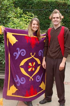 DIY Magic Carpet and Abu Costumes.. Reusing this idea to make a magic carpet