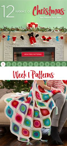 Celebrate the 12 weeks of Christmas with Red Heart and new patterns each week.