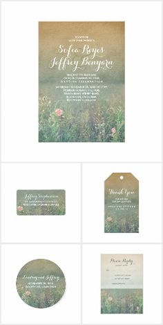 Summer Meadow Floral Vintage Wedding Collection