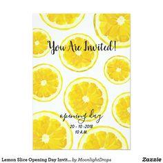 Lemon Slice Opening Day Invitation.