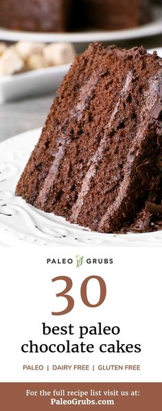 These are the best paleo chocolate cake recipes that are both tastier and healthier than any other cake recipes out there, gluten free or not.