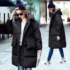 2016 new winter coats thick down jacket coat large size women's clothes tide bread for warm coat free shiping Down Winter Coats, Winter Jackets, Latest Winter Fashion, Women's Clothes, Clothes For Women, Winter Trends, Dress And Heels, Warm Coat, Winter Collection