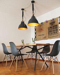 Elegantes Design   Massivholz Esstisch - Massivholz-Design Design Tisch, Eames, Designer, House Design, Chair, Furniture, Home Decor, Harvest, Design For Home