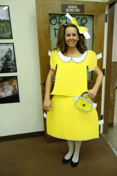 Halloween Costume  DIY Paper Doll Cute, but will anyone over the age of 35 get this?