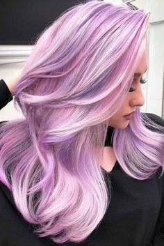 Lavender pink lilac hair Lavendel rosa lila Haare The post Lavendel rosa lila Haare & Haare appeared first on Lilac hair . Pastel Pink Hair, Hair Color Purple, Hair Dye Colors, Cool Hair Color, Purple Lilac, Pastel Hair Colour, Colour Melt Hair, Lilac Hair Dye, Dusty Pink Hair
