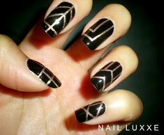 Ever since I saw the posters for the Great Gatsby I wanted to use the theme to create some nail art. Then I found this awesome pin by Sonailicious.com on Pinterest with a Great Gatsby Tutorial. I d…
