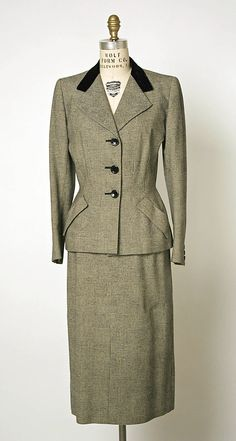 Suit by Hardy Amies, (British, 1909–2003), ca. 1951