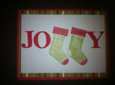 Christmas card using stocking punch