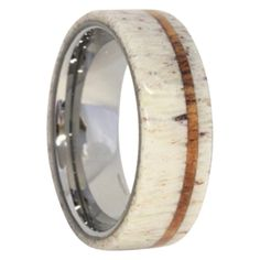 This Deer Antler and Oak Collectible Ring is from our exotic inlay collection, the most prestigious of all of our collections - rings are made by hand, no two the same and all are made with exotic real antler and wood materials.