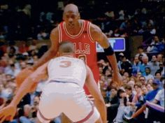 MJ crossing  John Starks