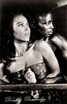 https://flic.kr/p/CrZUEY | Dorothy Dandridge and Alex Cressan in Tamango (1958) | East-German postcard by VEB Progress Film-Vertrieb, Berlin, no. 1276, 1960. Dorothy Dandridge (1922-1965) was an American film and theatre actress, singer and dancer. She is perhaps best known for being the first African-American actress to be nominated for an Academy Award for Best Actress for her performance in Carmen Jones (Otto Preminger, 1954). She was nominated for a Golden Globe Award for Porgy and…